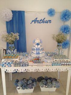 Foi brincando de tia avó que nós da decorações 3M+ criamos a decoração do chá de bebê do Arthur