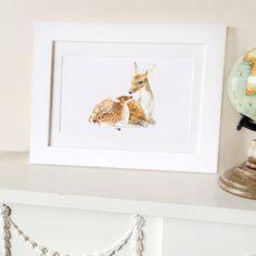 Deer Family Fine Art Print