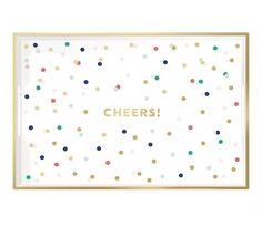 Cheers Lacquered Tray by Fringe Studio Pop Sugar Must Have Box  | eBay