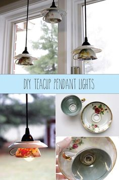 Teacup Pendant Lights by Flamingo Toes
