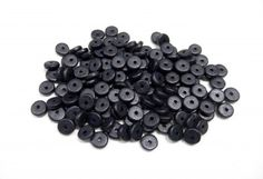 Black Ceramic Washers, Ceramic Rondelles, Small Ceramic Discs, Greek Ceramic Spacers, Matte Finish, 6.5x2.2mm (Ø 1.2mm) CC2 - 50 pieces  This listing is for fifty (50) ceramic beads.  Color:...@ artfire