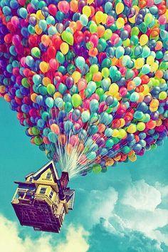 Wallpaper - Disney Up ~ rainbow balloons ~ iPhone backround Up Pixar, Disney Pixar, Disney And Dreamworks, Walt Disney, Cute Backgrounds, Cute Wallpapers, Wallpaper Backgrounds, Wallpaper Samsung, Wallpaper For Your Phone