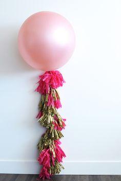 DIY party balloon tassel!