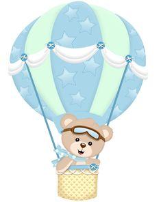 Airballoon Baby Shower invitation by glitterinvitescy on Etsy Deco Baby Shower, Baby Shower Balloons, Baby Boy Shower, Scrapbooking Image, Scrapbook Bebe, Bear Theme, Baby Clip Art, Baby Shawer, Baby Birthday