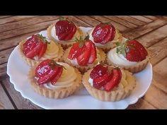 تارتولات الفراولة و كريمة باتيسيار .. ذوق لا يقاوم .. ضمن سلسلة تحضيرات شهر رمضان الكريم 🌛🌛🌛🌛 - YouTube Hello Kitty Cake, Mini Cupcakes, Cheesecake, Catania, Foods, Kitchen, Youtube, Fancy Desserts, Strawberry Pie
