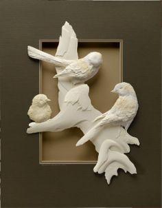 Animal Paper Sculptures -por Calvin Nicholls Art / Ideas / Artist / Thoughts More At FOSTERGINGER @ Pinterest