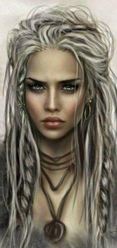 White hair warrior - - # white The Effective Pictures We Offer You About art dessin m Fantasy Women, Fantasy Girl, Fantasy Inspiration, Character Inspiration, Character Portraits, Character Art, Character Concept, Fantasy Artwork, Art Girl
