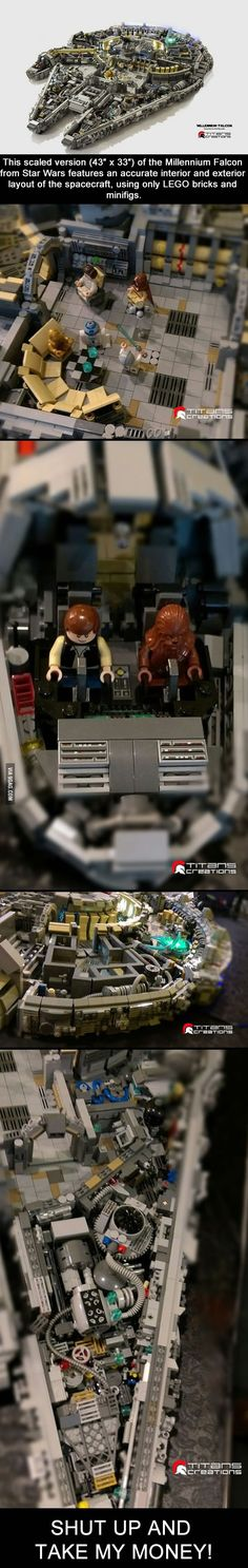 This Lego Version Of Millennium Falcon from Star Wars Is Simply Epic