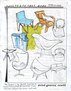 Construction and Design Sketch Design, E Design, Drawing Skills, Drawing Sketches, Drafting Drawing, Industrial Design Sketch, Interior Sketch, Sketchbook Pages, Sketch Markers