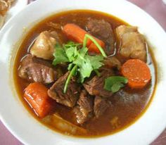 Beef Stew.Cubed beef with vegetables cooked in slow cooker. Yummy!!!