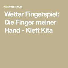 Wetter Fingerspiel: Die Finger meiner Hand - Klett Kita