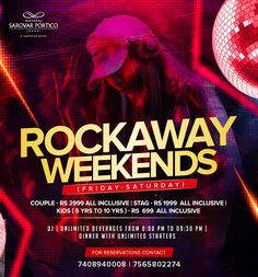 Ditch your plans of lazy weekend and let Rockaway weekends level up the fun.