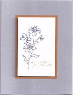lavendar sympathy by happy-stamper - Cards and Paper Crafts at Splitcoaststampers