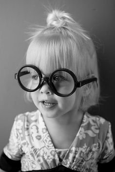 My little girl with glasses.