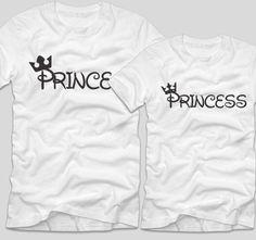 Tricourile cu mesaje pentru cuplurile de indragostiti sunt perfecte ca tu si partenerul tau sa va aratati dragostea unul fata de celalalt. Fie ca decizi sa le cumperi pentru iubitul sau iubita ta, un tricou cu mesaje haios precum acesta Prince si Princess in stilul deja faimos Disney este ideal pentru a-ti surprinde partenerul. Prince And Princess, Clothes, Fashion, Outfits, Moda, Clothing, Fashion Styles, Kleding, Outfit Posts