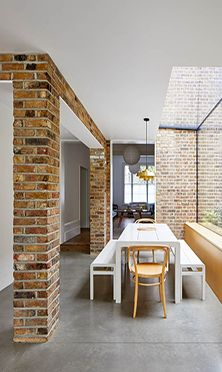 The Victorian semi-detached terraced house has been notched out and extended to the rear to create a generous kitchen, dining and living space with carefully placed glazed voids to link the interior with elements of the garden. The extension has been expressed as a lightweight pavilion extruded out from the main house, linking heavier exposed masonry elements and extending into the garden as a canopy overhanging the patio A pocket planter on the south facing side elevation is the first…