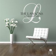 Family Monogram Wall Decal - Vinyl Wall Stickers Art Graphics Words Lettering on Etsy, $36.07 CAD