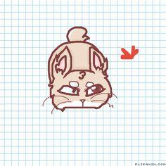 Taffy & the butterfly .w. by shyroselove #gif #anim #animation #flipanim #flipbook #drawing #draw