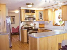 Hickory Kitchen Cabinets With Decorative Lighting