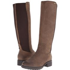 Rockport First Street Waterproof Gore Tall Boot Women's Waterproof... ($250) ❤ liked on Polyvore featuring shoes, boots, knee-high boots, waterproof leather boots, water proof boots, high boots, platform boots and waterproof boots