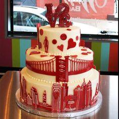 Love this Philadelphia Skyline Wedding Cake by #whippedbakeshop for $15.00 per serving http://www.whippedbakeshop.com