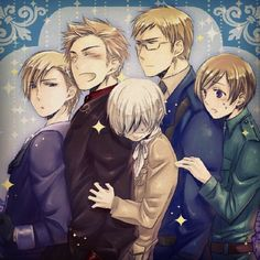 AWW NORDICS but Icey is squished between two otps! He wants to go find Canada!