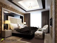 desain interior arsitek kamar utama konsep modern klasik ...