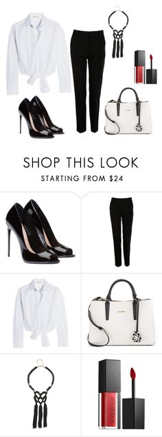 """Sans titre #48"" by garsende ❤ liked on Polyvore featuring Dolce&Gabbana, Maje, Calvin Klein, Bebe and Smashbox"
