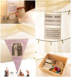 Gästebuch Hochzeit mal anders Alternative DIY