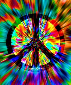 Colors of the Rainbow Peace Sign Art ✌❤ Hippie Wallpaper, Trippy Wallpaper, Pink Wallpaper, Colorful Wallpaper, Hippie Peace, Hippie Love, Hippie Chick, Hippie Style, Hippie Things