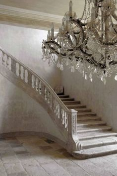 stairs / chandelier