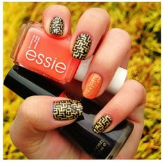 Maze Nail Design