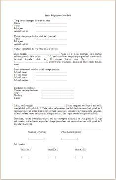 Contoh Surat Pernyataan Jual Beli Tanah Simak Gambar Berikut