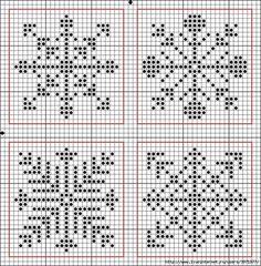 Схемы для новогодних салфеток, вышитых крестом
