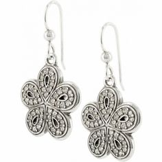 Petal Drops French Wire Earrings  available at #Brighton