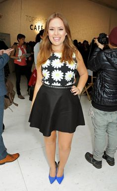 TANYA BURR!! London's coolest girls (including Kate Moss) and the industry's most famous editors turned out in full force to watch the Unique SS14 show today dressed in Topshop of course!