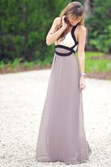 Classically Elegant Maxi Dress: Multi