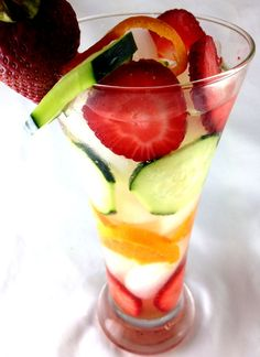 Tangerine Cucumber and Strawberry Infused Water tastes as good as it looks and can help you LOSE 50 POUNDS IN 3 MONTHS!