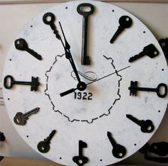 Особенностью этих часов является украшение их различными ключами.