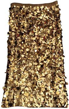 KAREN MILLEN Gold Viscose Skirt