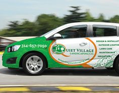 """Check out new work on my @Behance portfolio: """"Quiet Village Landscaping Vehicle Wrap"""" http://on.be.net/1tRHPJC"""