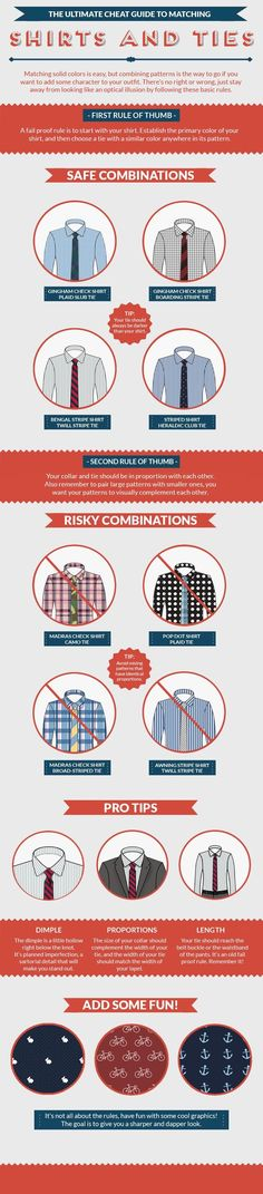 Know how to match shirts with ties?  Now you know!
