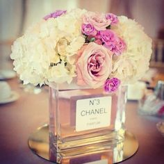 Gather your old perfume bottles to use for centerpieces! #wedding