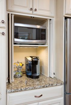 a place to hide the Keurig #coffee #storage #kitchenremodel