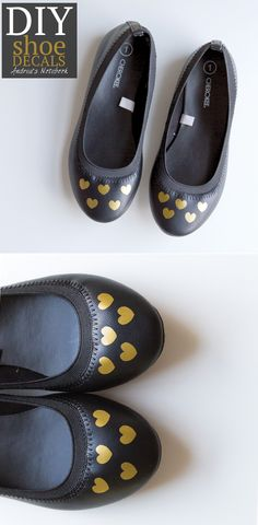 DIY shoe decals made with Cricut Explore -- Andrea's Notebook. #DesignSpaceStar Round 2