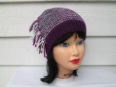 Hand Knit Hat Fall Autumn Winter Accessories by Ritaknitsall