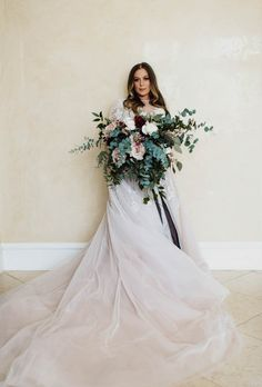 Full blush, ivory, and sage green bridal bouquet | Image by a sea of love