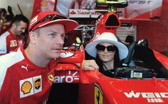 Kimi Raikkonen with his girlfriend Minttu Virtanen at the Monaco Grand Prix #F1 #Formula1 #MonacoGP