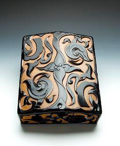 Suzuribako Writing Box by Yoshida Ikkei, Japan: carved lacquer, silver