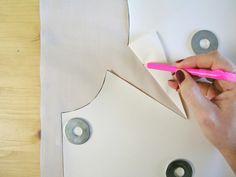 Marcar pinzas en tejido   Betsy Costura